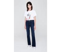 Dunkelblaue Jeans mit geradem Schnitt