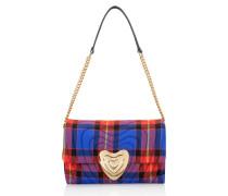 Mittelgroße Heart Bag mit Karomuster