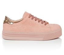 Sneakers aus texturiertem Leder