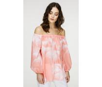 Bluse mit Print aus feiner Baumwolle