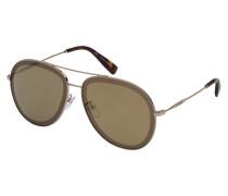 Oversize-Sonnenbrille im Aviator-Design