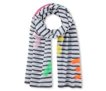 Logo-Schal aus Baumwolle-Seiden-Mix