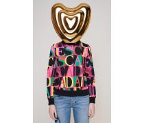 Mehrfarbiger Logo-Sweater