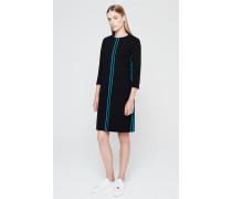 Punto-Milano-Kleid mit Kontraststreifen