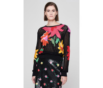 Runway Collection - Floraler Pullover mit Pailletten