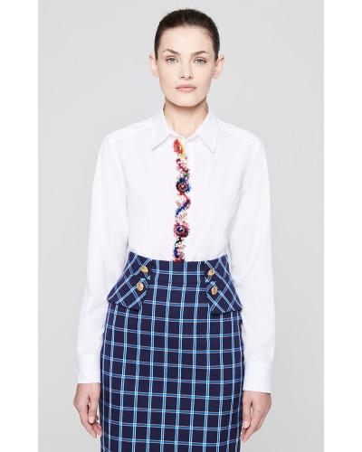 Bluse mit dekorativen Strass-Details