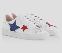 Sneaker mit Metallic-Sternen