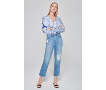 Straight-Fit-Jeans im Used-Look