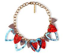 Glitzernde Heart Halskette