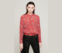 Bedruckte Bluse aus Seidenmix
