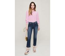 Slim-Fit-Jeans mit Nadelstreifen
