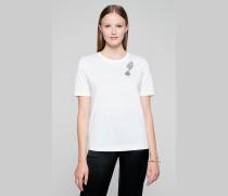 T-Shirt mit Schmucksteinverzierung