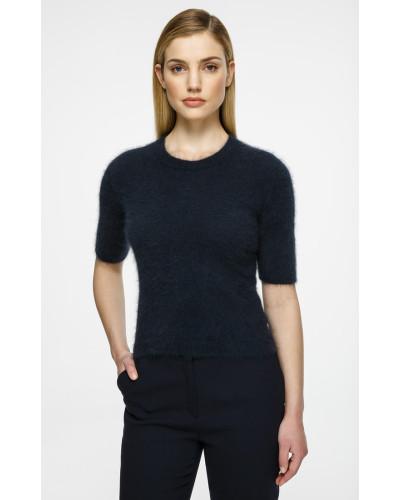 Kurzärmliger Angora-Pullover