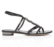 Leder-Sandale mit dekorativen Details