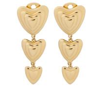 Goldfarbene Herz-Ohrhänger