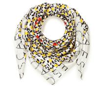 Schal aus Seidensatin