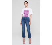Knöchellange Bootcut-Jeans