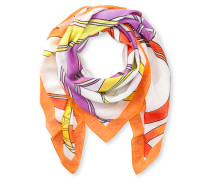 Bedruckter Schal aus Baumwolle-Seiden-Mix