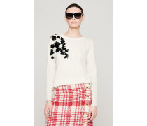 Pullover aus Wolle-Kaschmir-Mix mit Verzierung