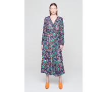 Maxi-Kleid aus Crepon mit Print