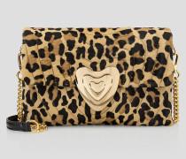 Mittelgroße Heart Bag mit Leopardenprint