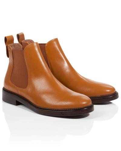 Escada Damen Chelsea-Boots aus Leder Schnelle Lieferung Verkauf Online bkbgWg2itR