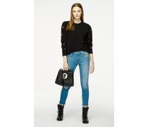 Skinny-Jeans mit Verzierungen