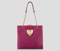 Heart Tote Bag aus Leder