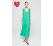 Gestreiftes Plissee-Kleid