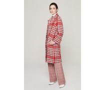 Karierter Tweed-Mantel aus Wolle