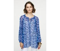 Chiffon-Bluse mit Print