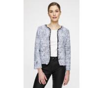 Tweed-Jacke in Stepp-Optik