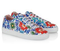 Leder-Sneakers mit Print
