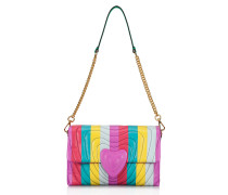 Heart Bag aus Leder in Multicolor-Optik