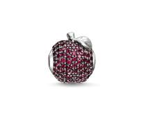 Bead Roter Apfel, Sterlingsilber, Karma Beads