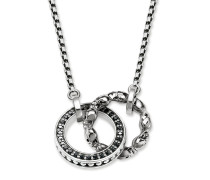 "Collier ""Totenkopf Pavé"", Sterlingsilber, Rebel at heart"