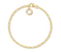 Charm-Armband, Sterlingsilber Gelbgold vergoldet