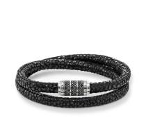 Armband, Sterlingsilber | Leder, Rebel at heart