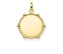 "Anhänger ""Coin Dots"" mit Gravur, Sterlingsilber Gelbgold vergoldet, Love Bridge"