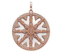 "Anhänger ""Karma Wheel mit Perlmutt-Scheibe"", Sterlingsilber Roségold vergoldet, Karma Beads"