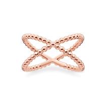 Ring, Sterlingsilber Roségold vergoldet, Glam & Soul