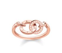 """Ring """"TOGETHER"""", Sterlingsilber Roségold vergoldet, Glam & Soul"""