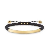Armband mit Gravur, Sterlingsilber Gelbgold vergoldet, Love Bridge
