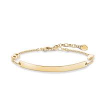 "Armband ""Herz mit Infinity"" mit Gravur, Sterlingsilber Gelbgold vergoldet, Love Bridge"