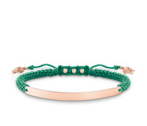 "Armband ""Grün Schildkröte"" mit Gravur, Sterlingsilber Roségold vergoldet, Love Bridge"