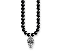 "Kette ""Power Necklace Maori Totenkopf Pavé"", Sterlingsilber, Rebel at heart"