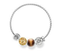 "Armband ""Ornament"", Sterlingsilber Gelbgold vergoldet, Glam & Soul"