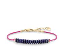"""Armband """"Blau"""", Sterlingsilber Gelbgold vergoldet, Love Bridge"""