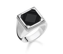 """Ring """"Onyx"""", Sterlingsilber, Rebel at heart"""