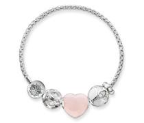 "Armband ""Rosa Herz"", Sterlingsilber, Karma Beads"